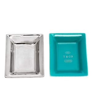 Tiffany & Co. Metallic Porcelain Vide Poche Tray Set