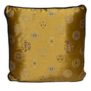 Versace Yellow Cotton Cushion