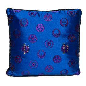 Versace Medusa Red & Blue Cotton Cushion