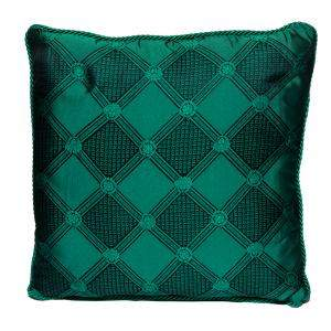 Versace Medusa Green & Black Cotton & Velvet Cushion