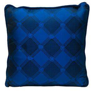Versace Medusa Blue Cotton & Velvet Cushion 45 CM