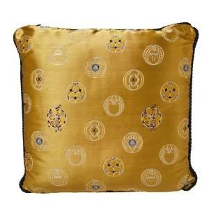 Versace Gold Medusa Print Cushion 45CM
