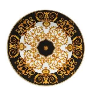 Versace X Rosenthal Gold & Black Barocco Plate