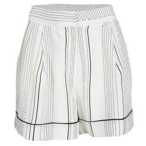 3.1 Phillip Lim Monochrome Pin Striped Silk Pajama Shorts M