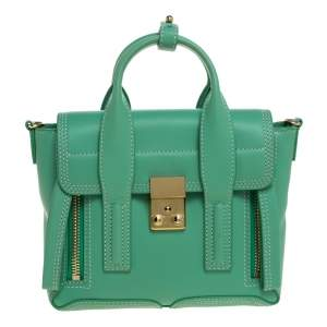 3.1 Phillip Lim Mint Green Leather Mini Pashli Satchel