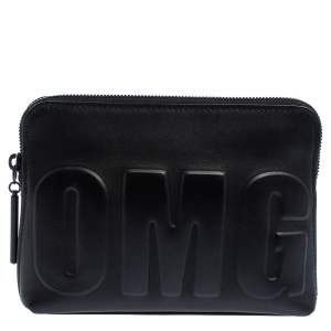 3.1 Phillip Lim Black Leather OMG Clutch