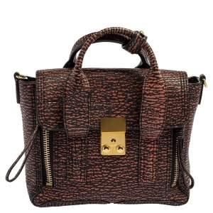 3.1 Phillip Lim Black Lava Leather Mini Pashli Satchel