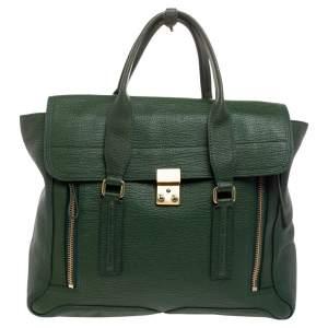 3.1 Phillip Lim Green Leather Large Pashli Satchel