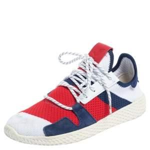 Adidas x BBC x Pharrell Williams White Knit Fabric Hu V2 Sneakers Size 38