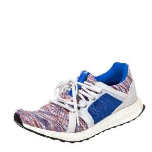 Adidas x Stella McCartney Multicolor Knit Parley Ultra Boost Sneakers Size 38