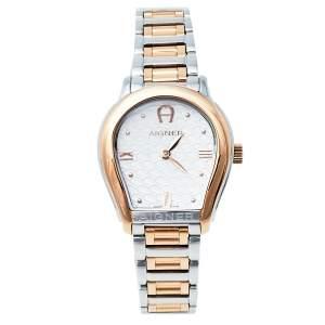 ساعة يد رجالية أيغنر فيسينزا A111200 ستانلس ستيل ثنائي اللون فضية 30 مم