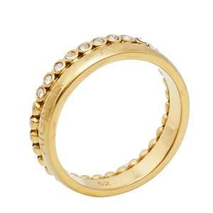 خاتم أيغنر حلقة مرصعة كريستال مصفوف و معدن ذهبي اللون مقاس 52