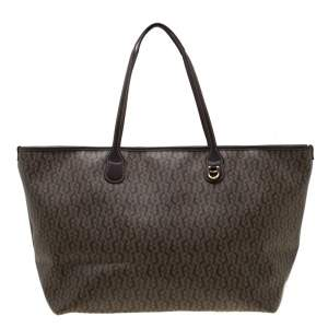 Aigner Beige/Brown Signature Coated Canvas Shopper Tote