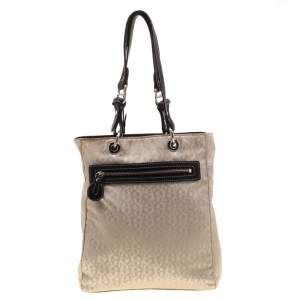 Aigner Beige/Black Signature Fabric Tote