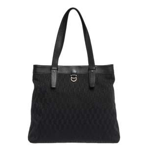 Aigner Black Signature Canvas and Leather Tote