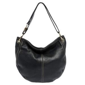 Aigner Black Leather Hobo