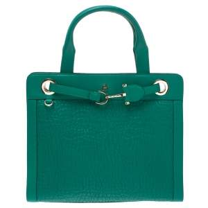 Aigner Green Leather Cavallina Top Handle Bag
