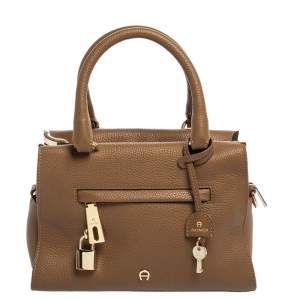 Aigner Brown Leather Kaia Satchel