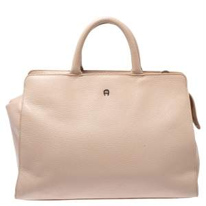 Aigner Blush Pink Leather Cybill Tote