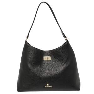 Aigner Black Leather Shoulder Bag