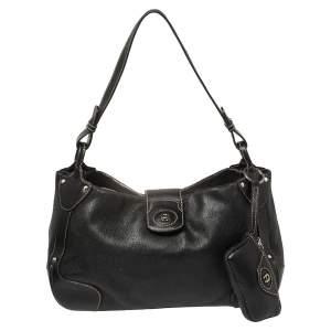 Aigner Black Leather Satchel