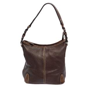 Aigner Brown Leather Small Hobo