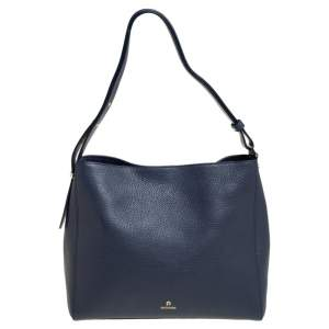 Aigner Blue Leather Hobo