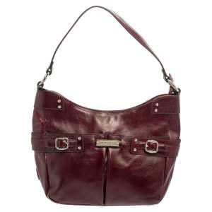 Aigner Burgundy Leather Hobo
