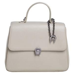 Aigner Beige Leather Genoveva Top Handle Bag