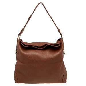 Aigner Brown Leather Large Arya Hobo