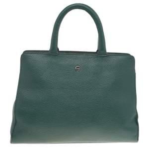 حقيبة يد توتس أيغنر جلد أخضر