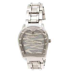 ساعة يد نسائية أيغنر فيرونا A48100 ستانلس ستيل فضية 33 مم