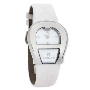 Aigner Mother of Pearl Gold Plated Stainless Steel Venezia A39200 Women's Wristwatch 36 mm