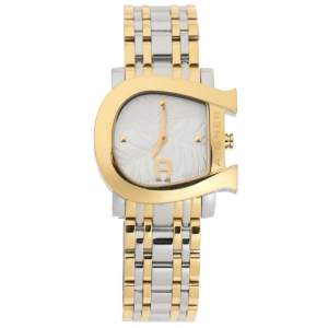 Aigner White Leaves Two-Tone Stainless Steel Genua Due A31600 Women's Wristwatch 31 mm