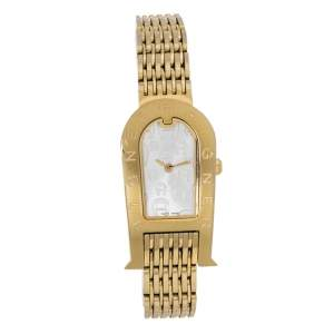 Aigner Champagne Gold Plated Stainless Steel Olbia A29000 Women's Wristwatch 21 mm