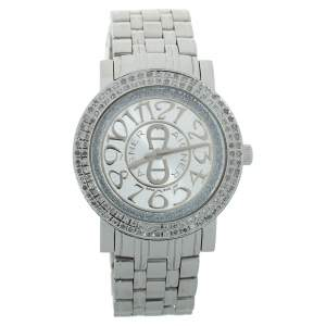 Aigner Silver Stainless Steel Diamond Cortina A26300 Women's Wristwatch 35 mm
