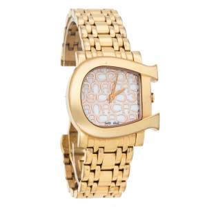 Aigner Mother of Pearl Gold Plated Stainless Steel Genua Due A31600 Women's Wristwatch 31 mm