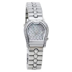 ساعة يد نسائية أيغنر رافينا A02200 ستانلس ستيل ألماس صدف 24 مم