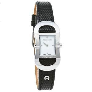 ساعة يد نسائية أيغنر سيسينا ايه53200 جلد و ستانلس ستيل و صدف 20 مم
