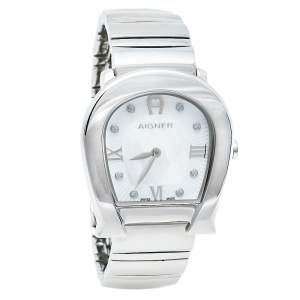 Aigner Mother Of Pearl Stainless Steel Messina A40200 Women's Wristwatch 29 mm