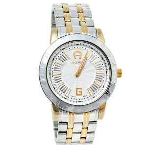 Aigner Silver Two-Tone Stainless Steel Cortina A26300 Women's Wristwatch 36 mm
