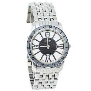 ساعة يد نسائية أيغنر مورانو أيه35200 كوارتز ستانلس ستيل ثنائية اللون 32 مم