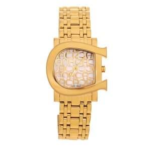 ساعة يد نسائية أيغنر جينوا ديو A31600 ستانلس ستيل ذهبية اللون صدف 31 مم