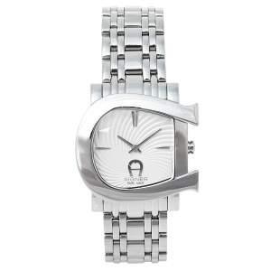 Aigner Silver Swirl Stainless Steel Genua Due A31600 Women's Wristwatch 31 mm