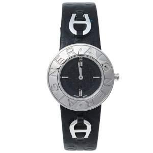 Aigner Black Stainless Steel Leather Aversa A51200 Women's Wristwatch 32 mm