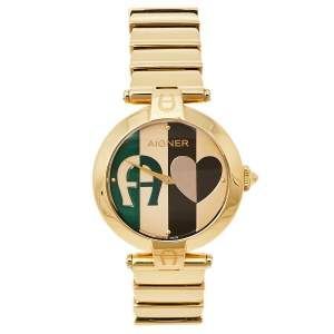 Aigner Multicolor Gold Plated Stainless Steel Siena A16200 Women's Wristwatch 36 mm