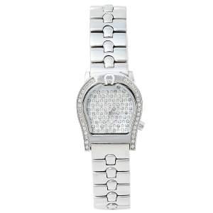 ساعة يد نسائية أيغنر فيرونا A01200 ستانلس ستيل وألماس وصدف 24 مم