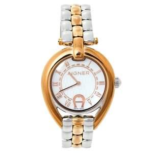 ساعة يد نسائية أيغنر أمبريا A49300 ستانلس ستيل ثنائية اللون صدف 35مم