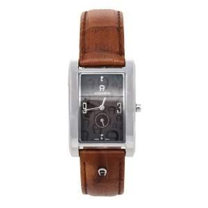 ساعة يد نسائية أيغنر مادونا نودو أيه16200 جلد ستانلس ستيل بني 26 مم