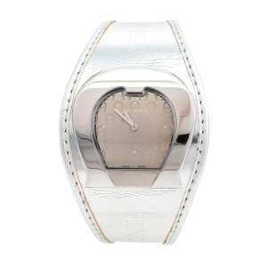 Aigner Silver Stainless Steel Metallic Leather L'Aquila A41200 Women's Wristwatch 36 mm